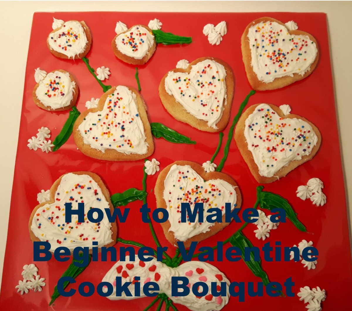 How to Make A Simple Valentine Cookie Bouquet