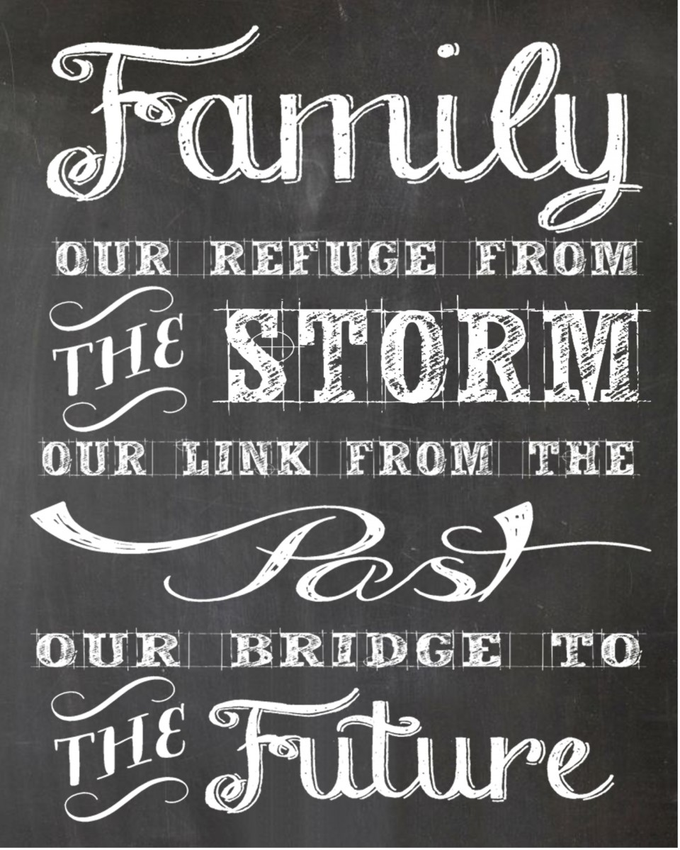Family: our refuge ... our link ... our bridge