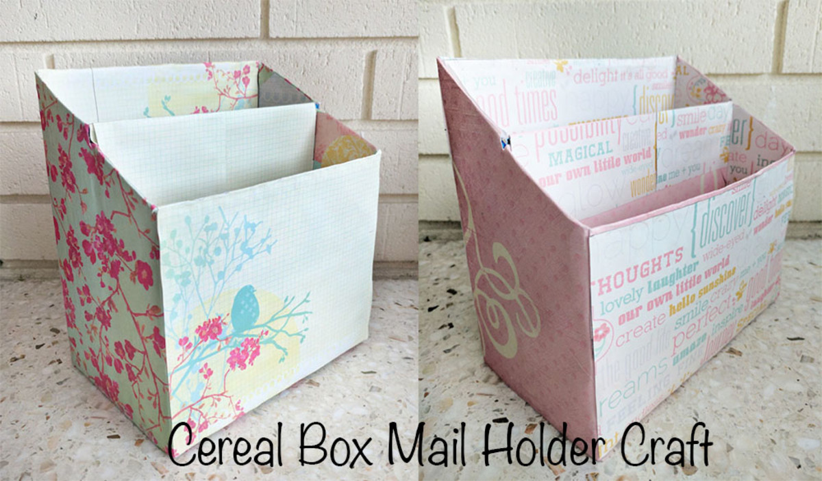 Cereal Box Mail Holder