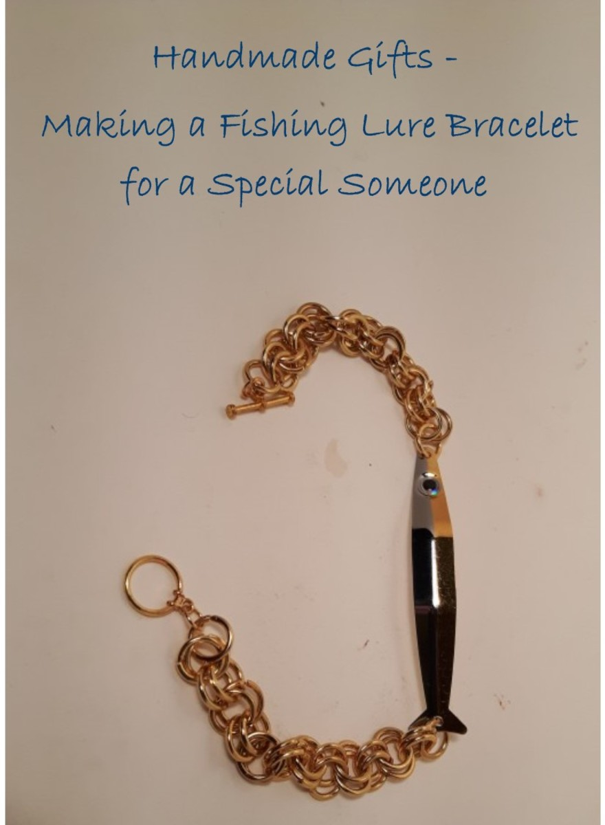 Handmade Gifts Making A Fishing Lure Bracelet For A