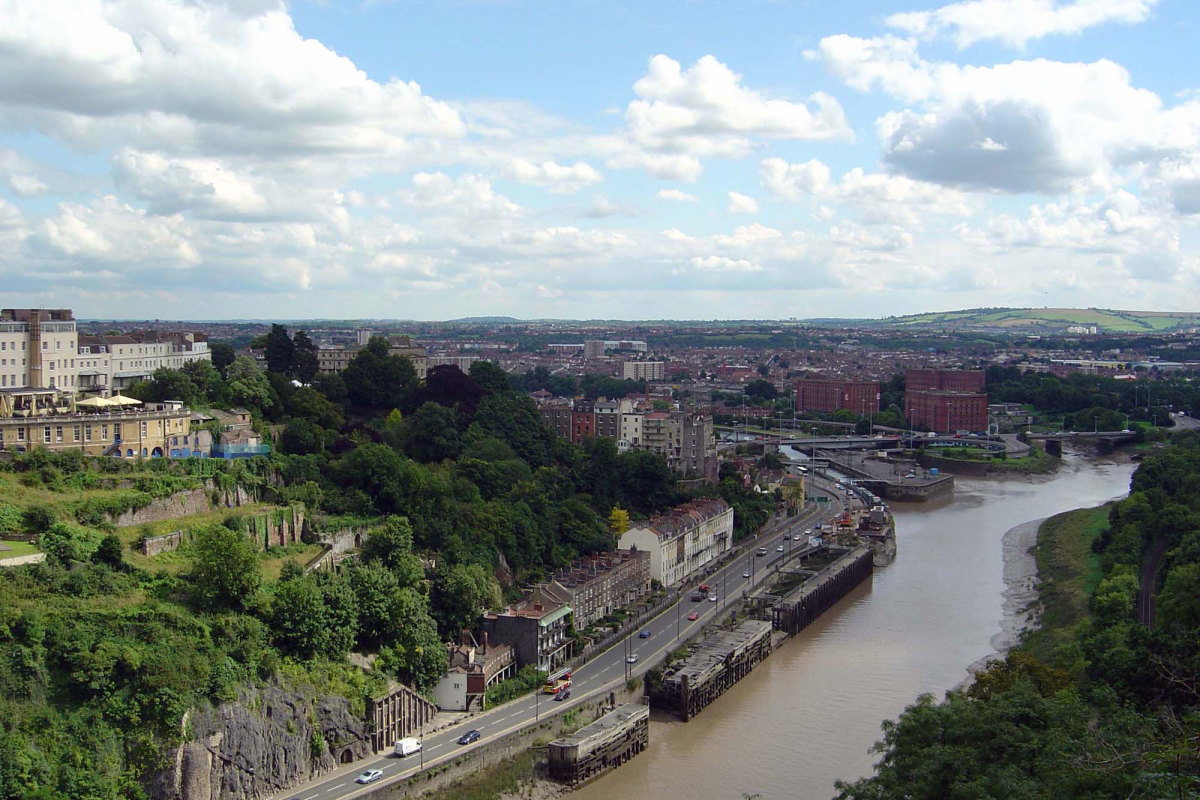 The city of Bristol in the West Country in England, which has its own Bristolian dialect.