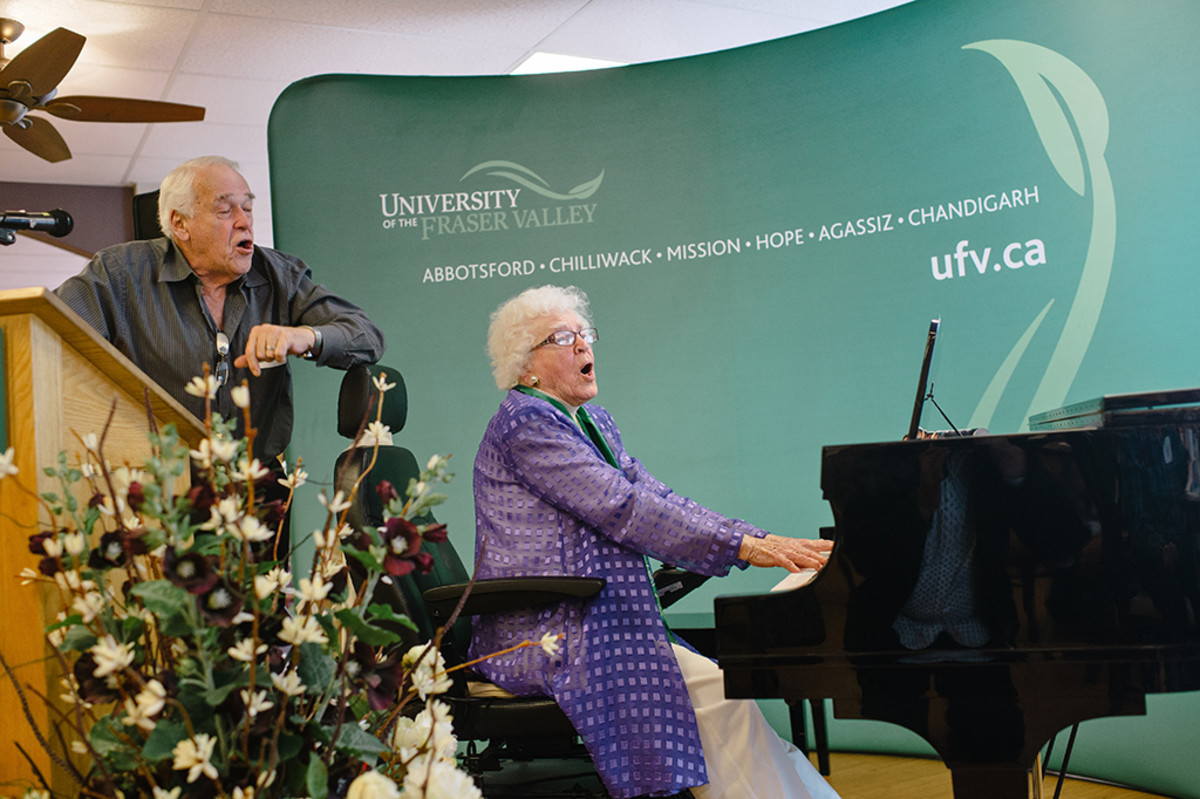 Dr. Jean Scott from British Colombia celebrates 102nd birthday (2014).