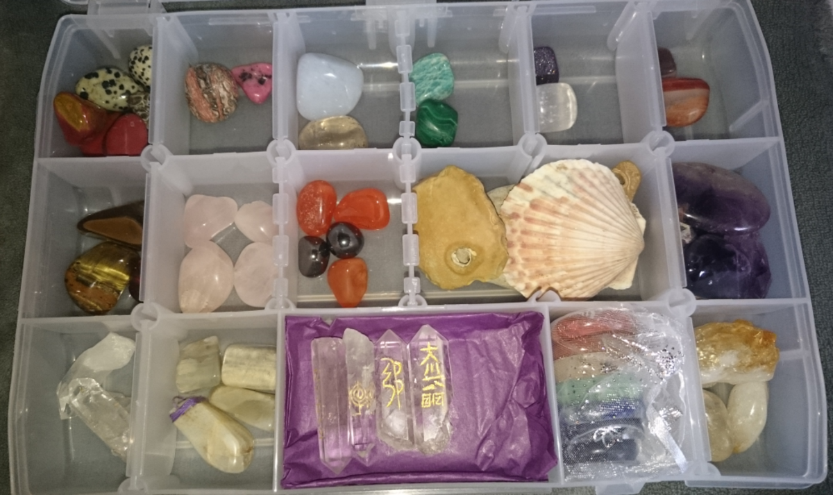 Crystals can be used in healing and balancing the chakras.