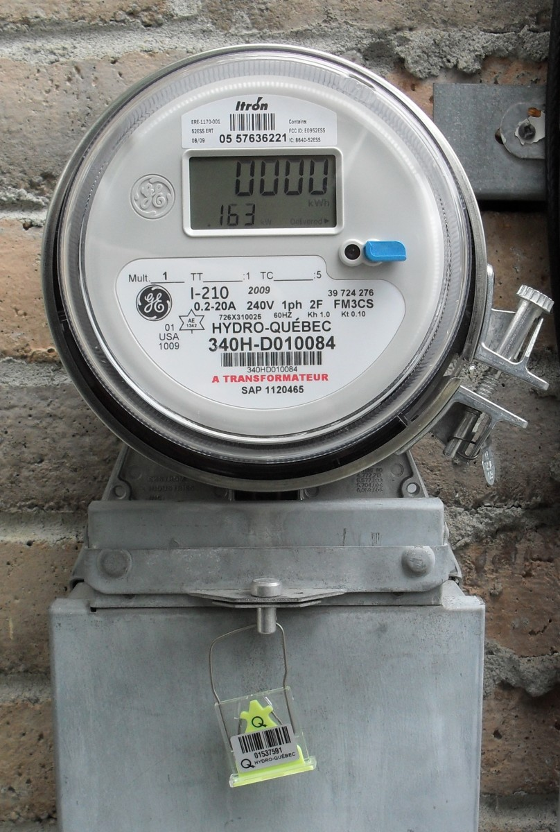 Hydro Quebec digital electric meter