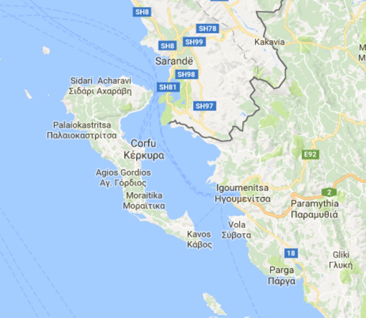 Corfu and Albania