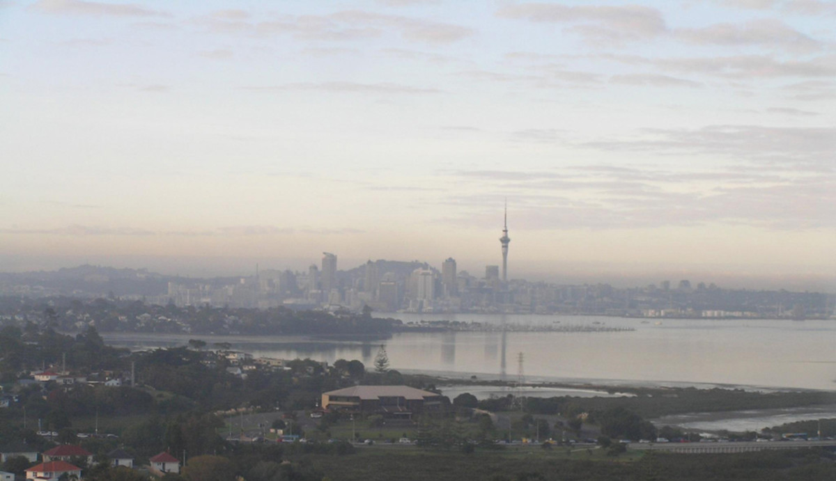 A Brown Haze Over Auckland.