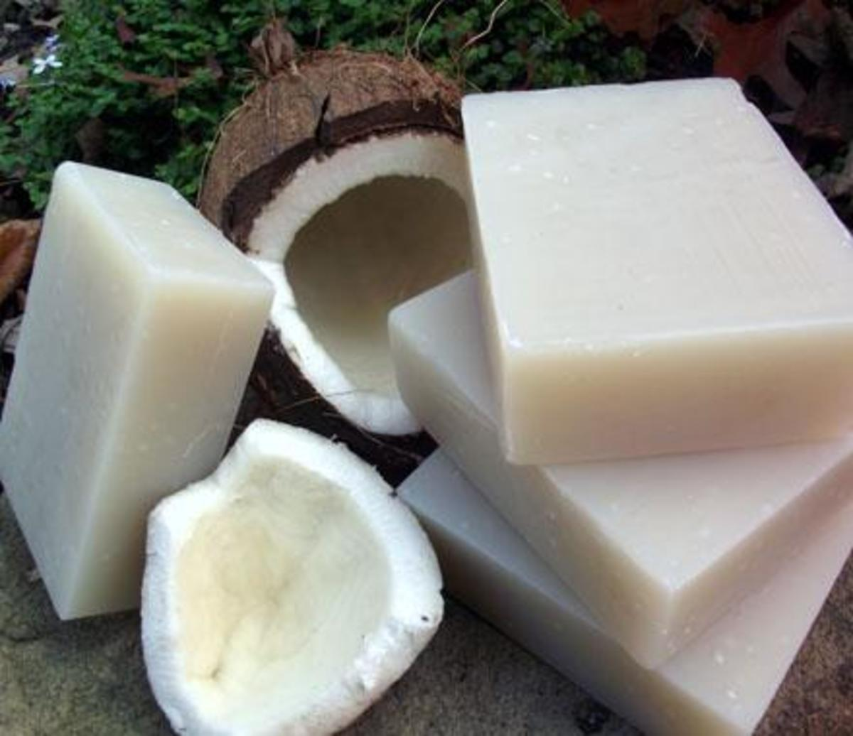 Organically-made coconut shampoo bars