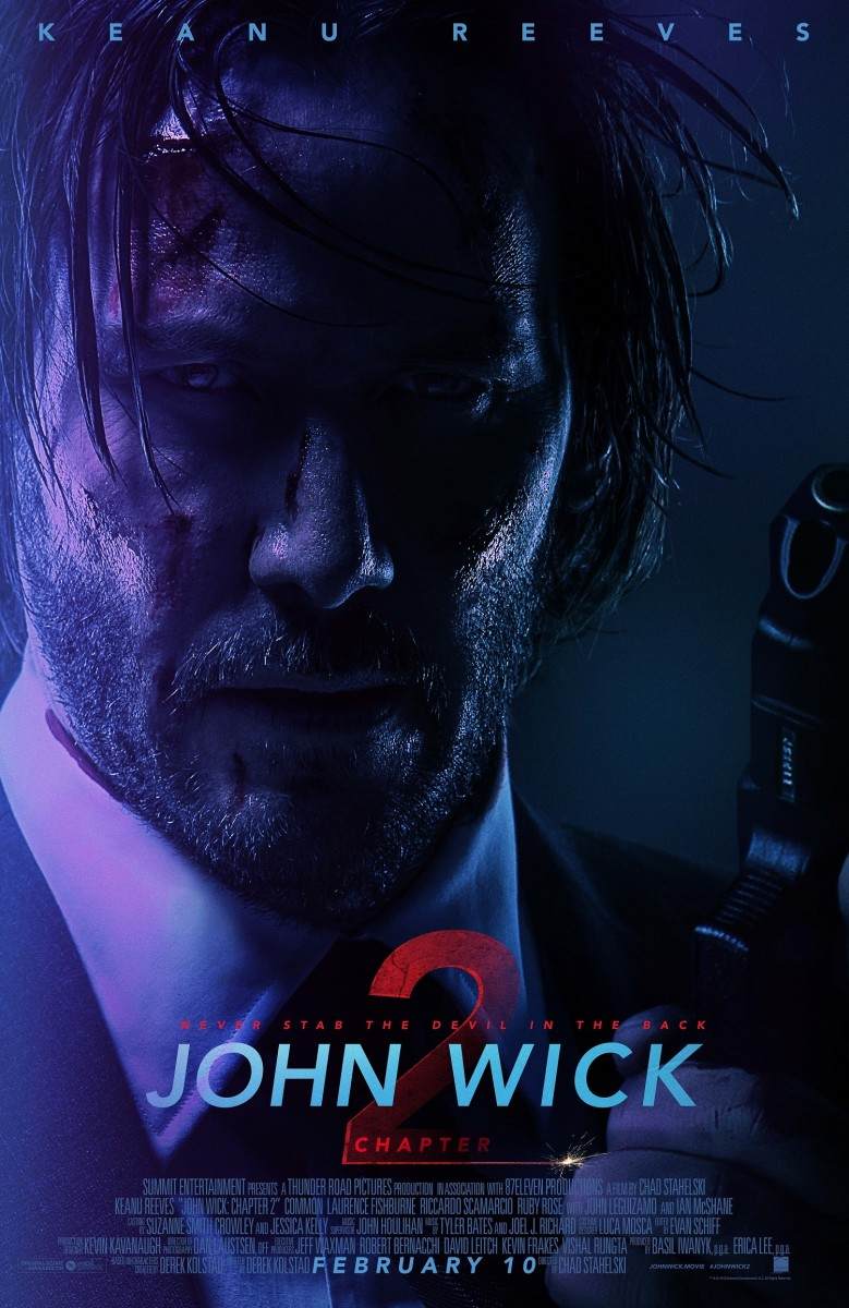 "The final one-sheet theatrical poster for, ""John Wick: Chapter 2."""