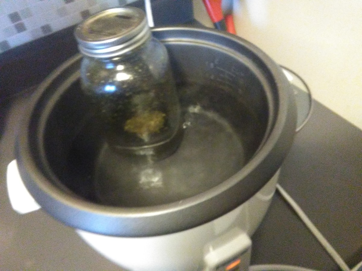 Double Boiler effect. Remember to burp!