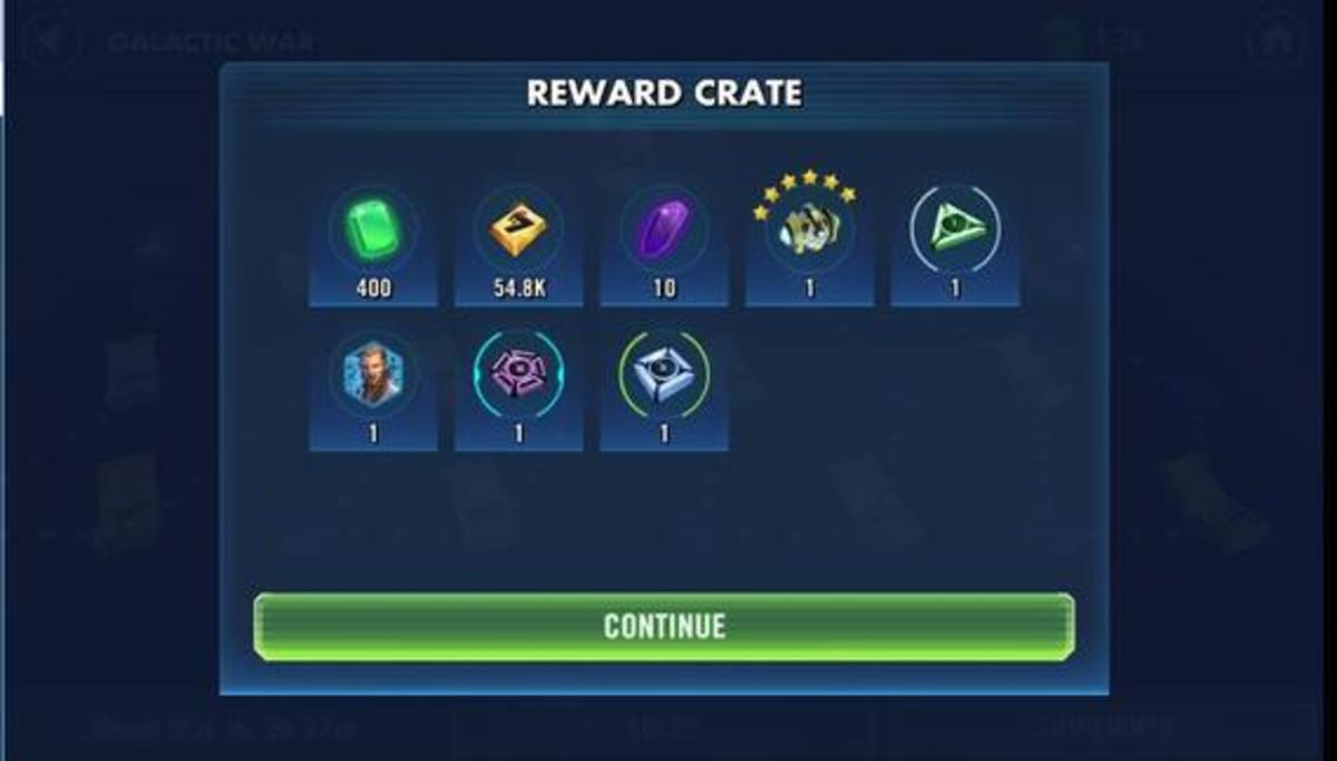 Galactic Wars Rewards