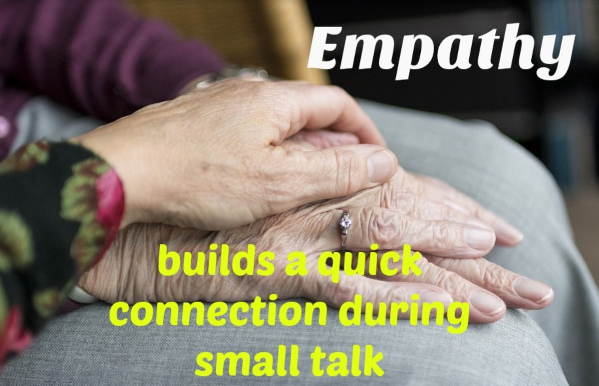 Showing empathy is essential to communication, even when it's just small talk.