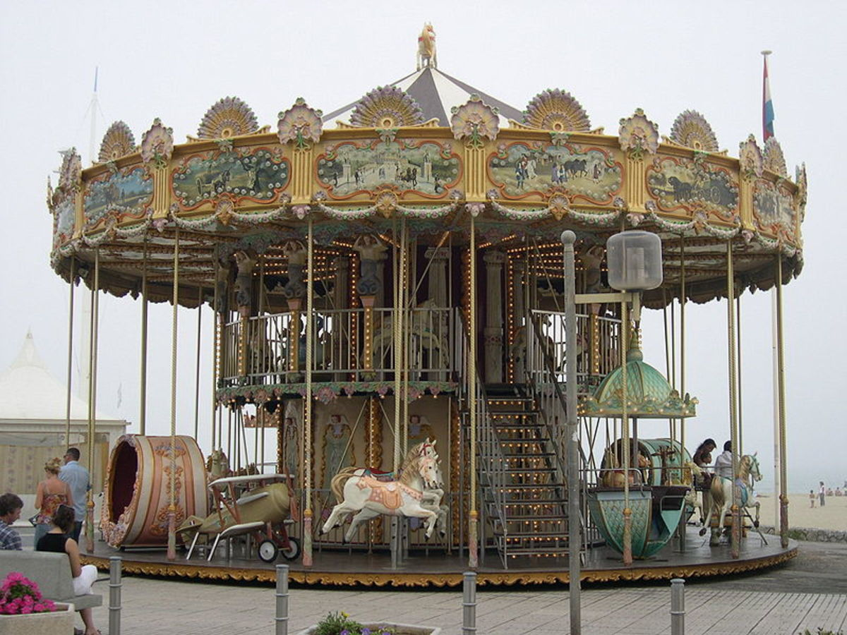 An old fashioned carousel found in southern France