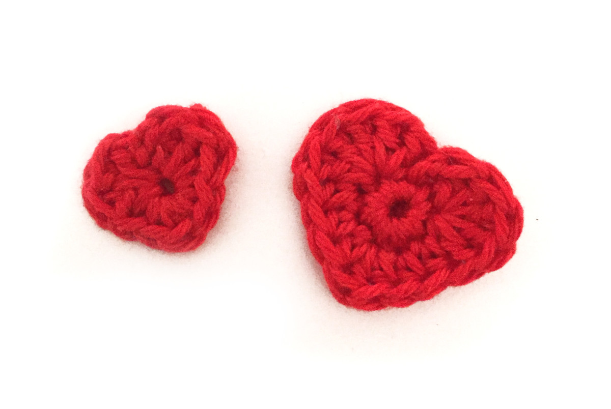 Adorable Heart Crochet Patternfree Feltmagnet