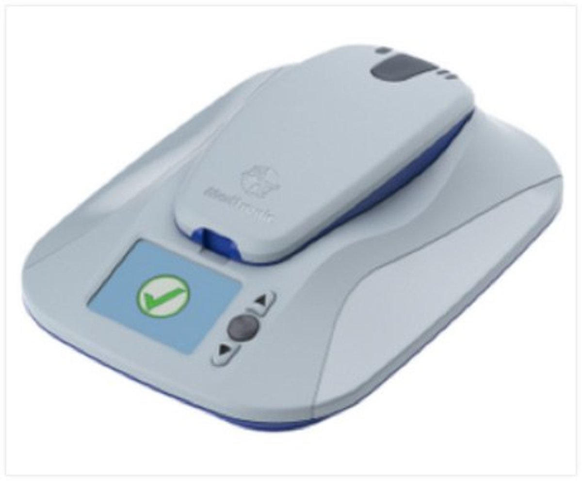 This device is connected to the cardiologist's office.  It continuously monitors during the night when I am asleep, provided that I sleep within 6 feet of it.  It also sends data when requested.