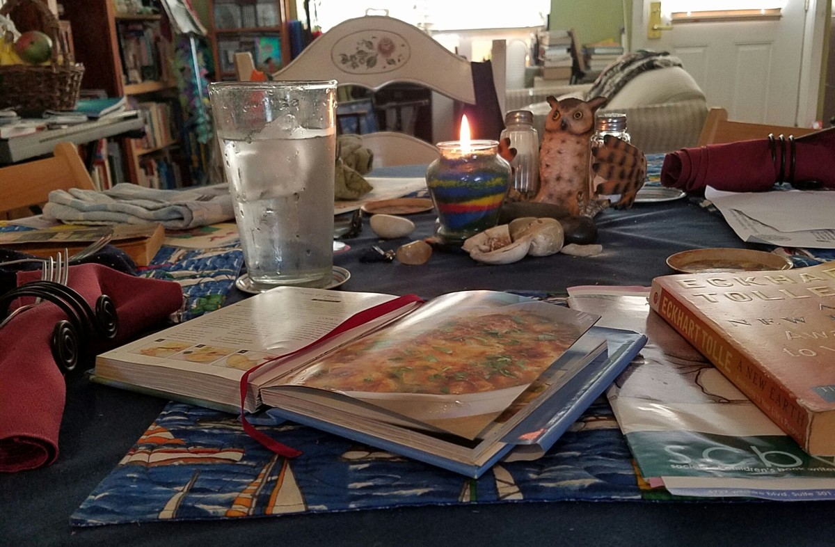 Cooking and presenting tasty food on a table adorned with pretty tools is my way of bringing enchantment into my world.