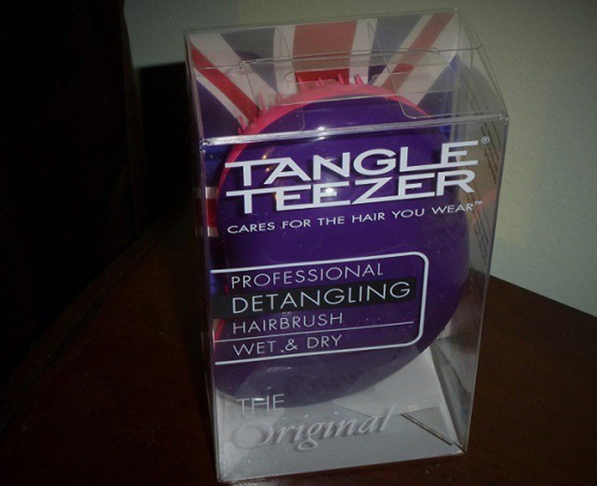 The Detangling Hairbrush by Tangle Teezer worked great for my tangle-prone hair.