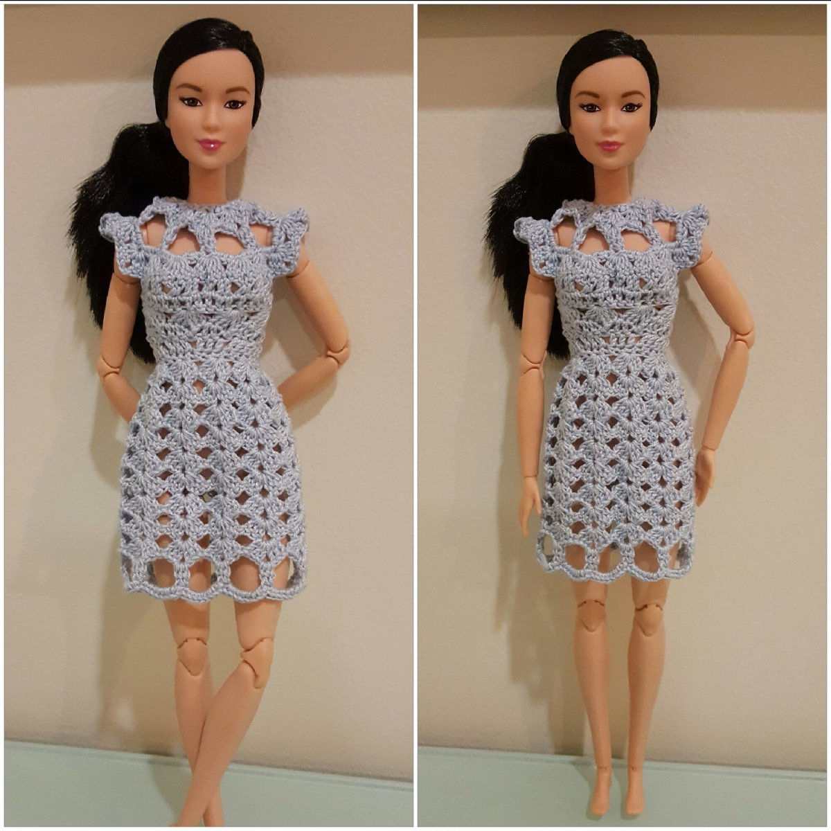 Barbie Cut-Out Shell-Stitch Dress