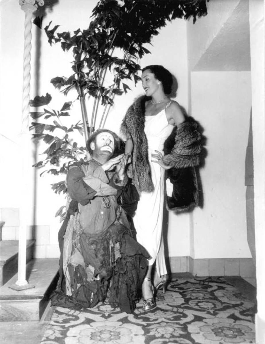 Kay Hernan and Emmett Kelly Palm Beach, Florida in 1948.