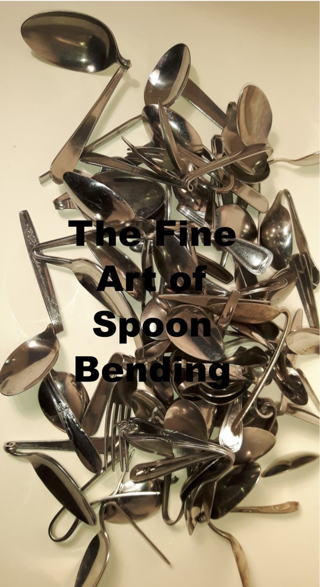 Bent spoons using the spoon bending technique