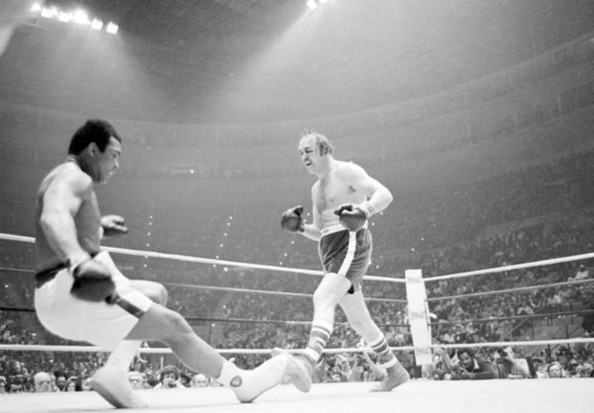 Wepner knocking down Muhammad Ali in the ninth round.