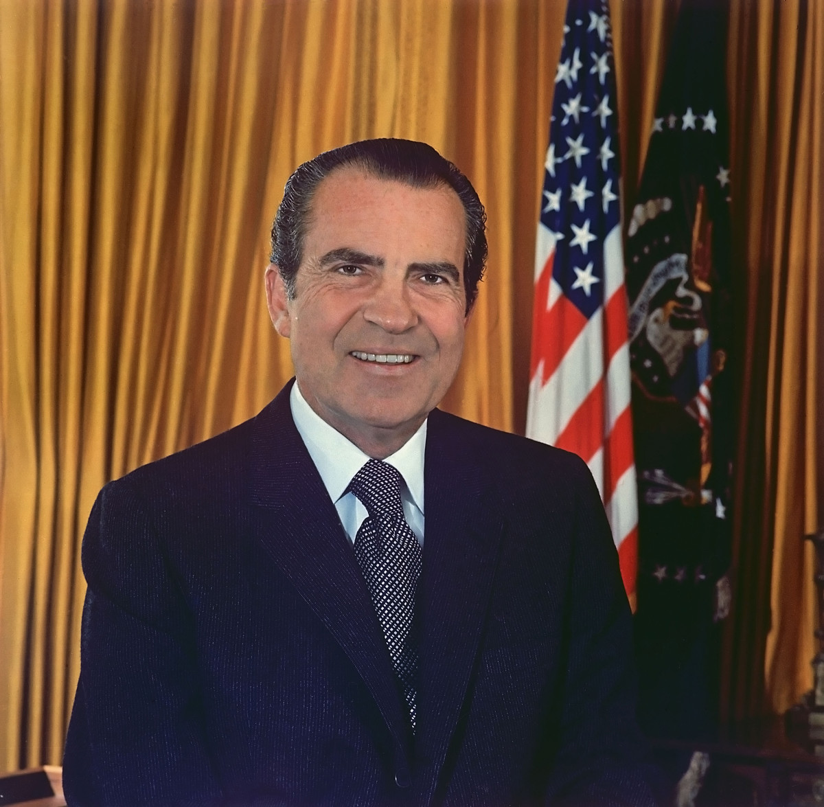 Official White House photo of President Richard Nixon. 1971.