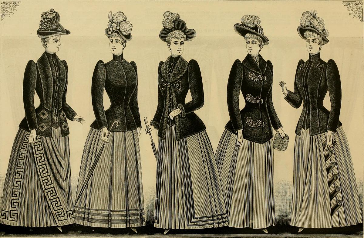 Fashion plate from winter 1890.