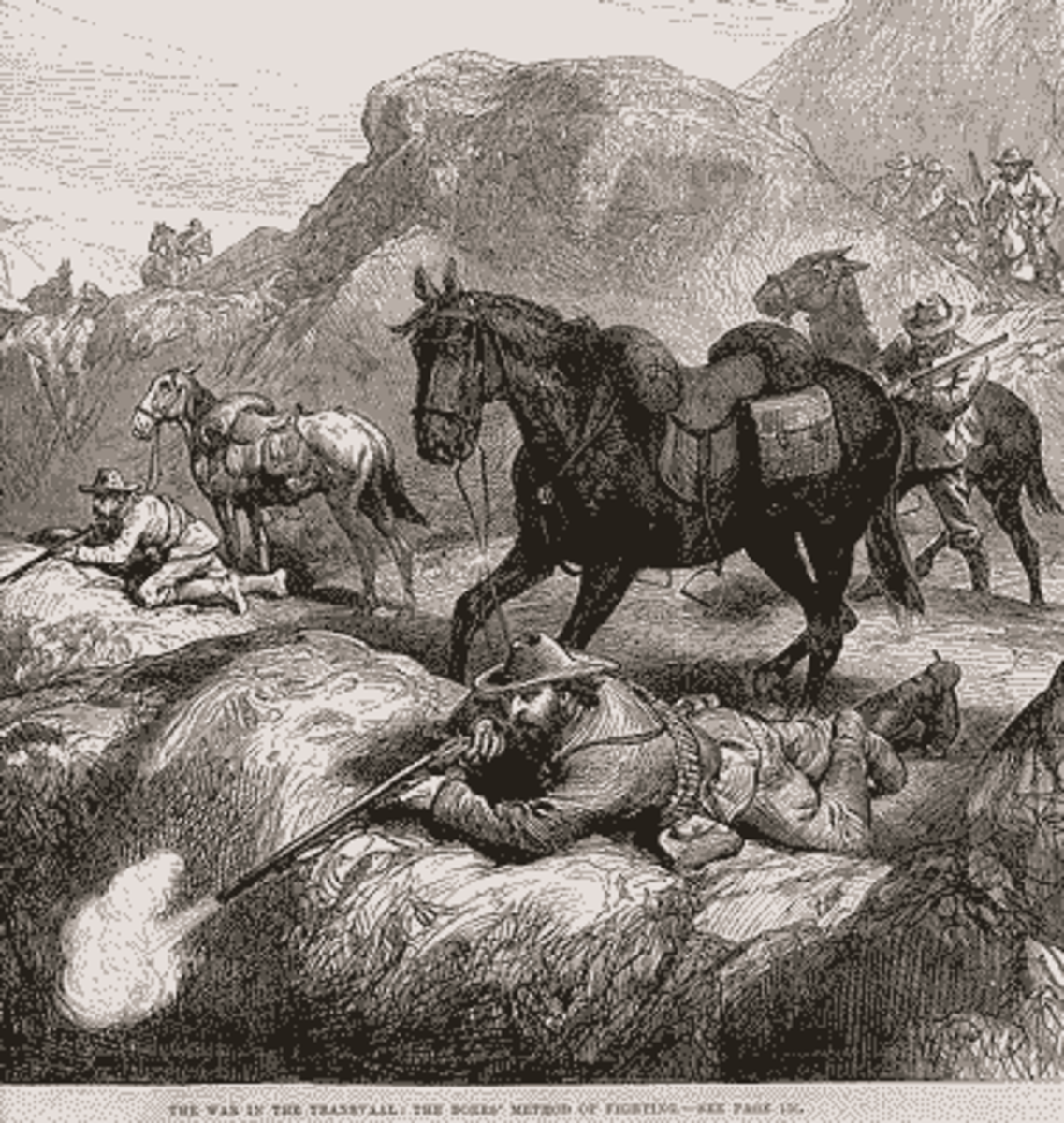 The war in the Transvaal: The Boers' method of fighting.