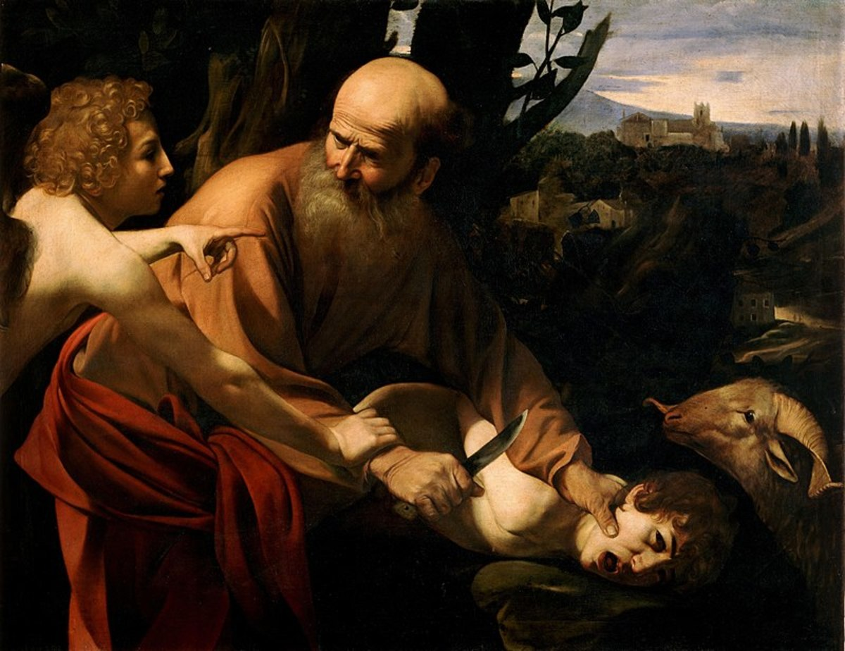 The near sacrifice of Isaac on Mount Moriah