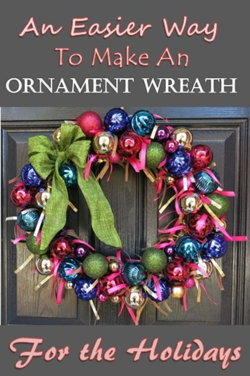 DIY Craft Tutorial:  An Easier Way to Make an Ornament Wreath for the Holidays