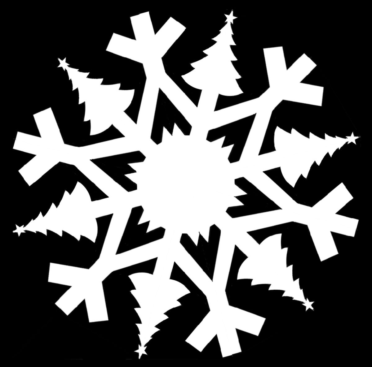 Christmas-Themed Snowflake Templates