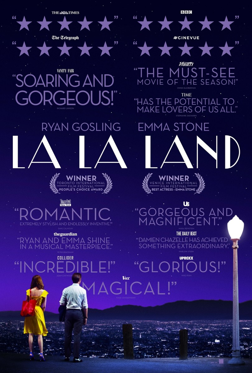 "The official one-sheet theatrical poster for ""La La Land."""