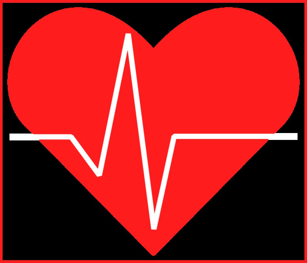 A heart with a white EKG peak superimposed