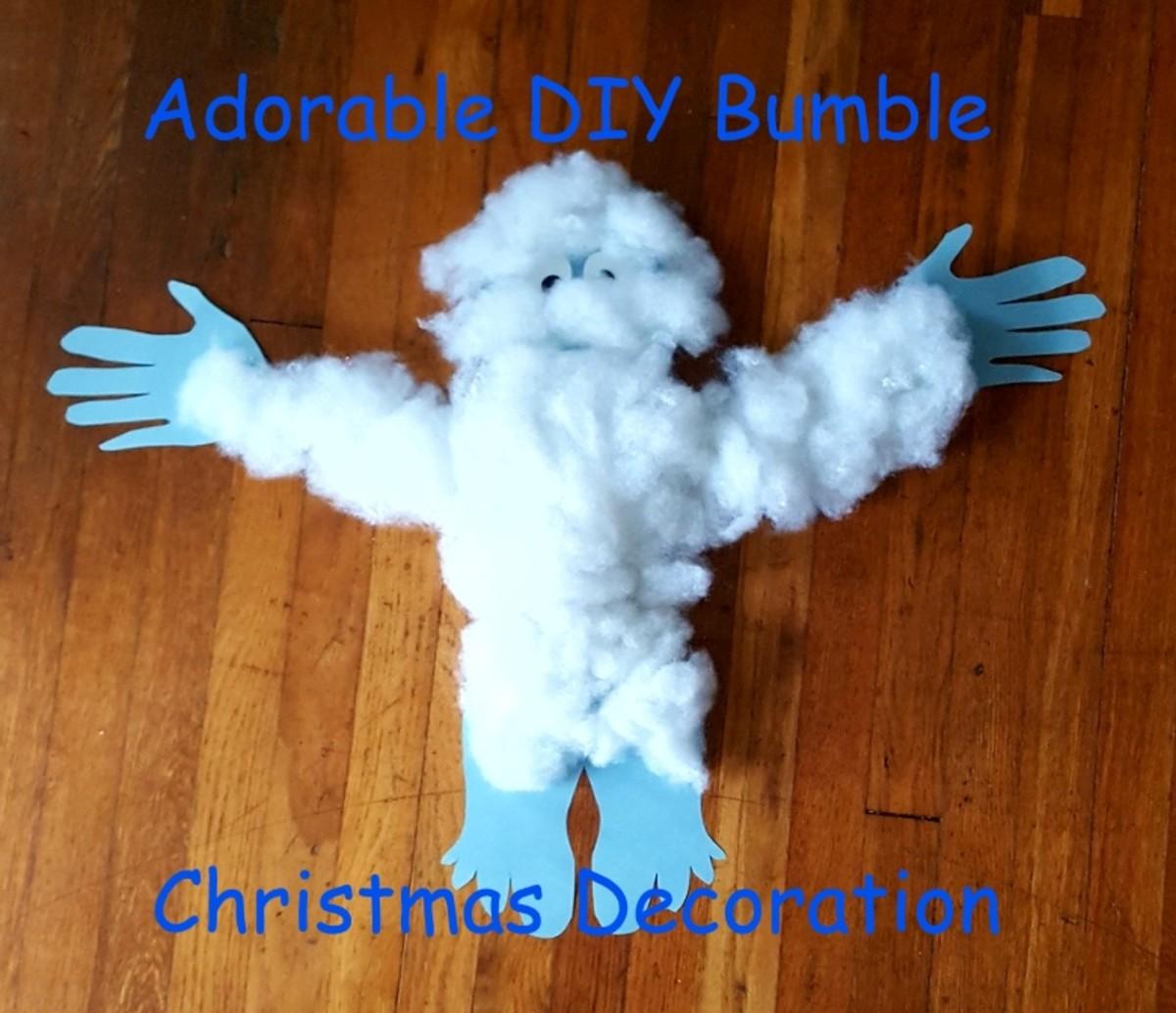 Adorable DIY Bumble Christmas Decoration