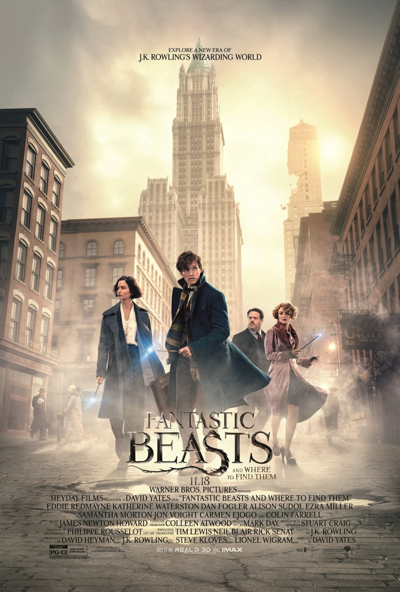 "The official one-sheet theatrical poster for ""Fantastic Beasts and Where to Find Them."""