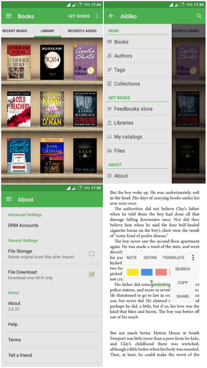 Top 11 Ebook Readers for Android | TurboFuture