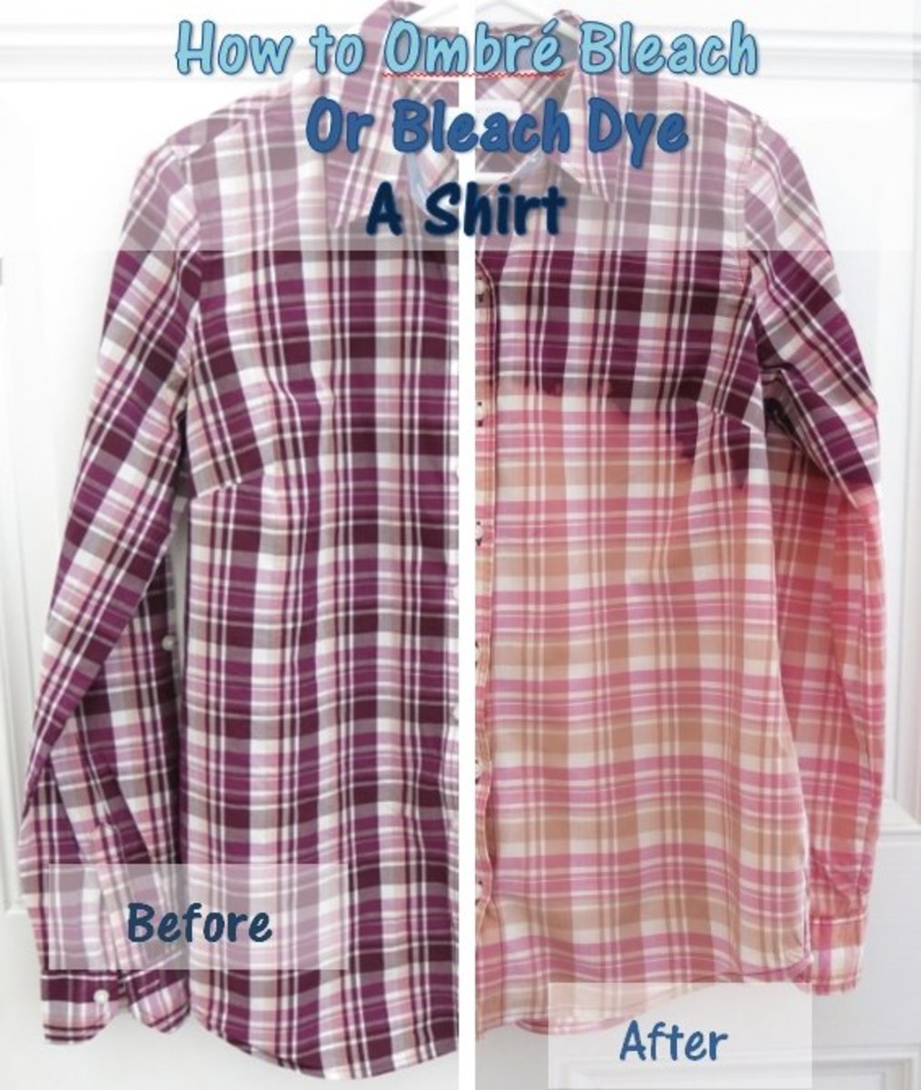 DIY Fashion Tutorial:  How to Ombré Bleach or Bleach Dye a Shirt