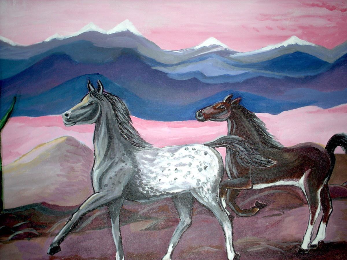 Wild horses free to roam...