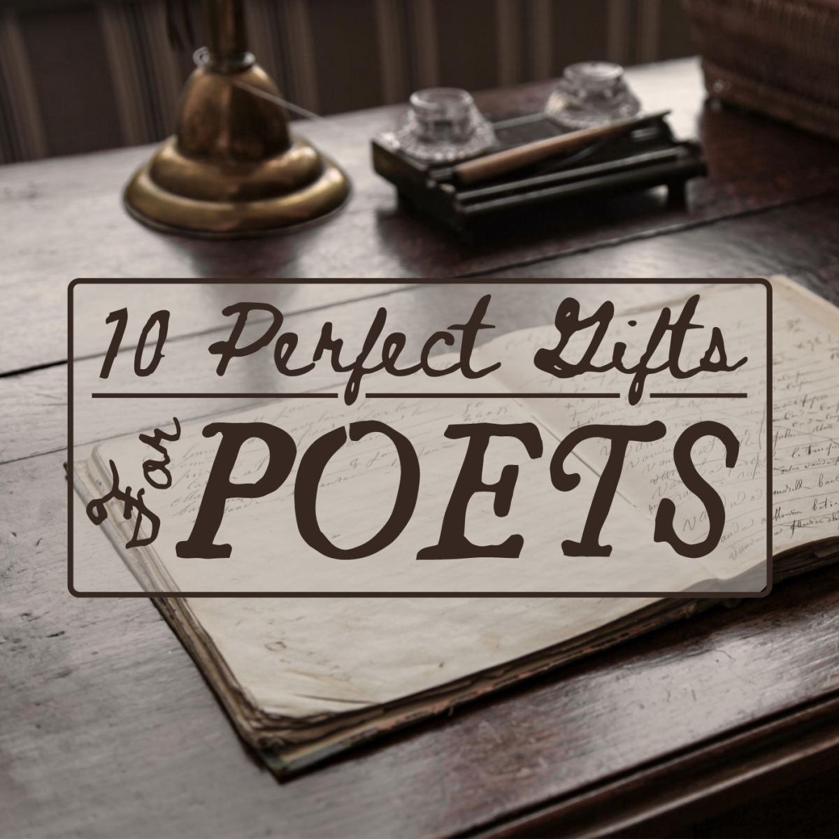 Looking for the perfect present for the poet in your life? Peruse the ideas below for inspiration.