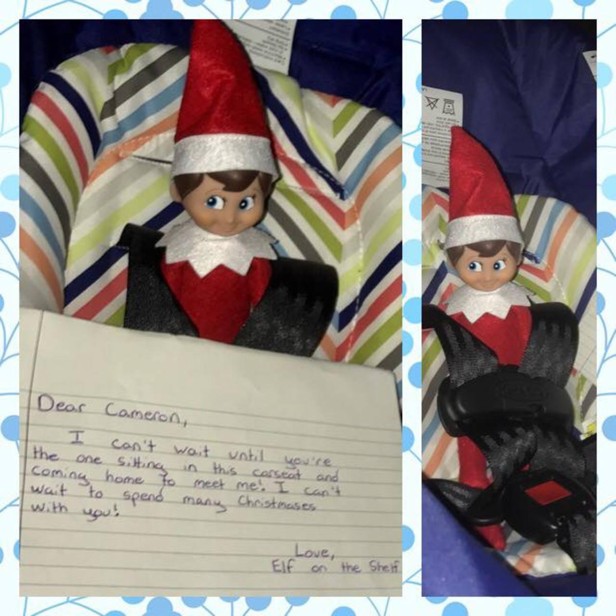 Elf on the Shelf Ideas for Baby