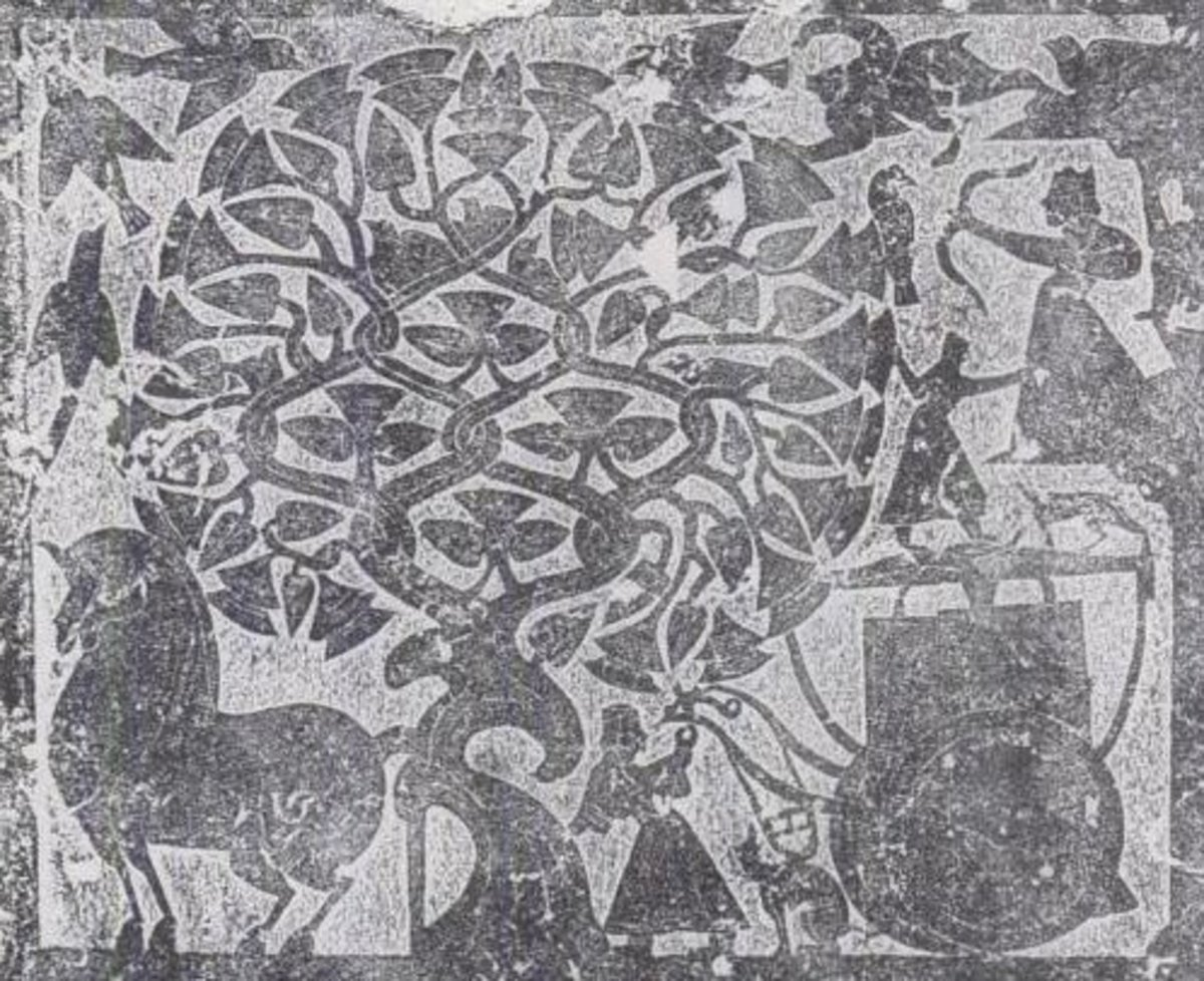 Rubbing of a stone relief depicting Hou Yi taking aim.