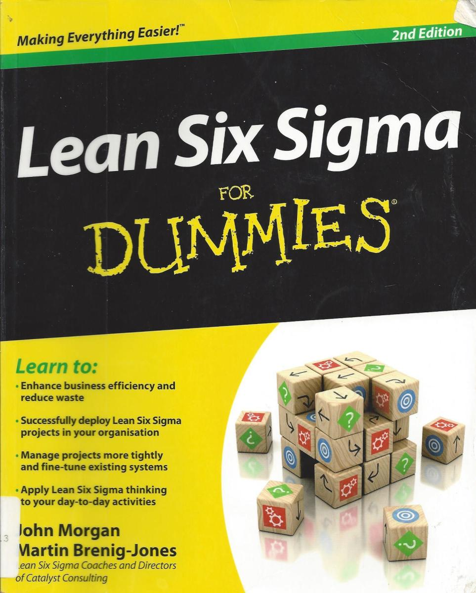 "Cover of ""Lean Six Sigma for Dummies"" second edition."