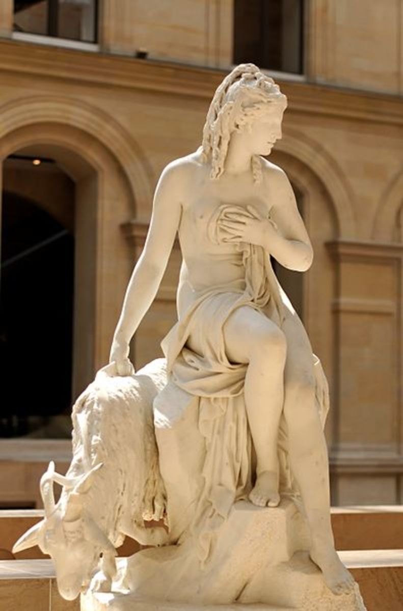 'Amalthea and Jupiter's Goat' (Louvre Museum)
