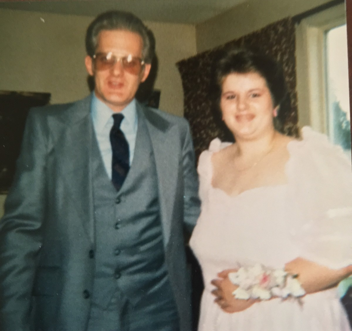 Dad and I before amyloidosis. My grad Day.