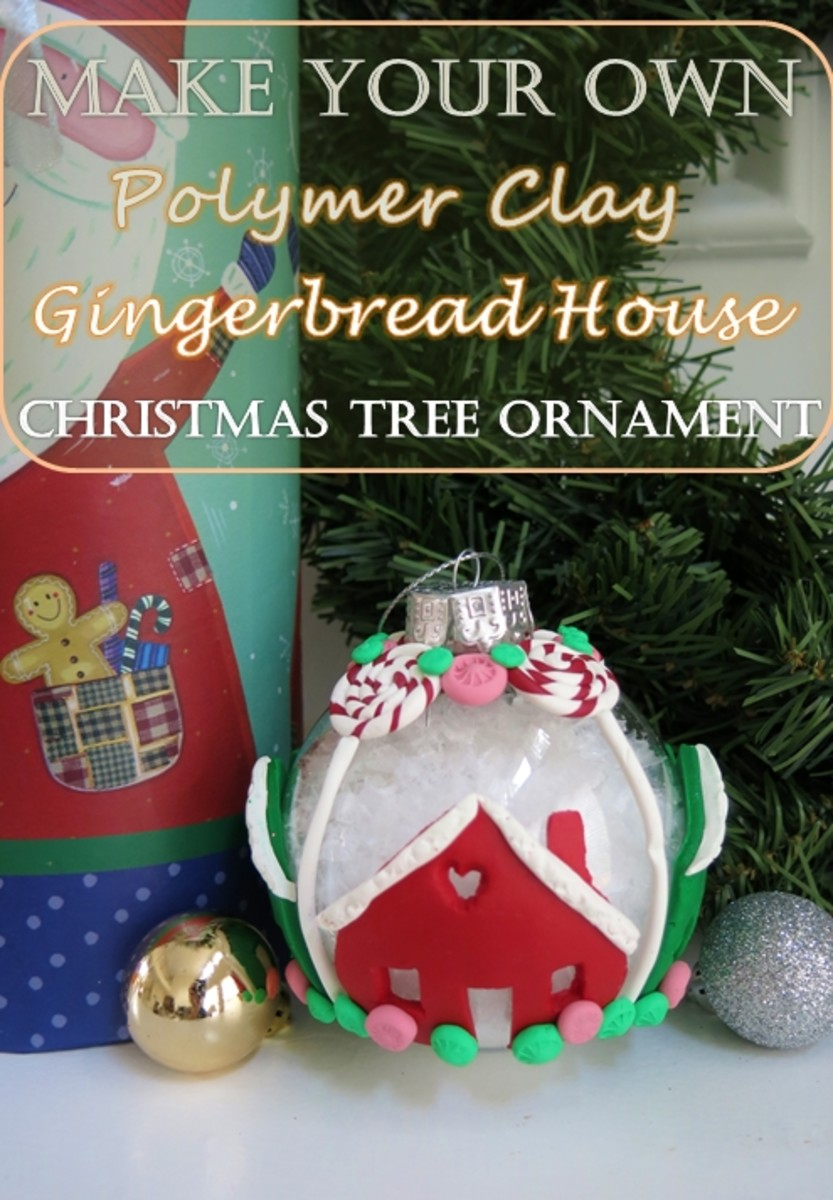 DIY Craft Tutorial:  Make Your Own Polymer Clay Gingerbread House Christmas Tree Ornament