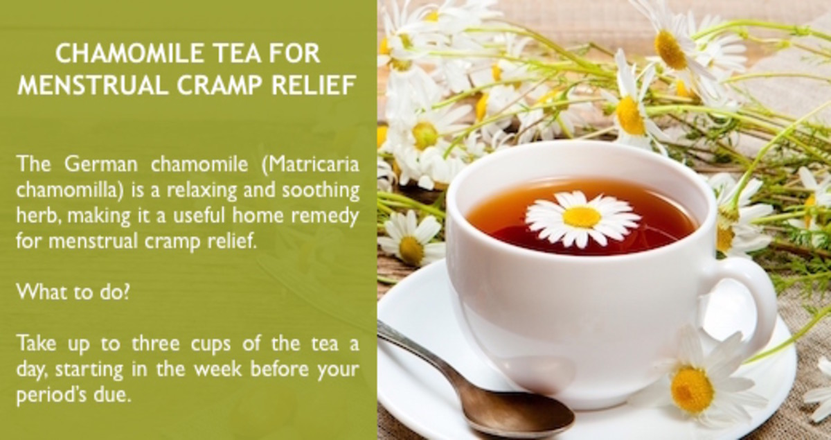 Chamomile tea can serve as a natural painkiller for menstrual cramps.