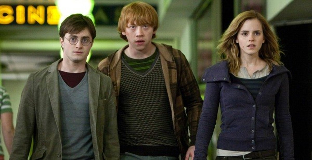 "Harry, Ron, and Hermione in ""Deathly Hallows, Part 1"""