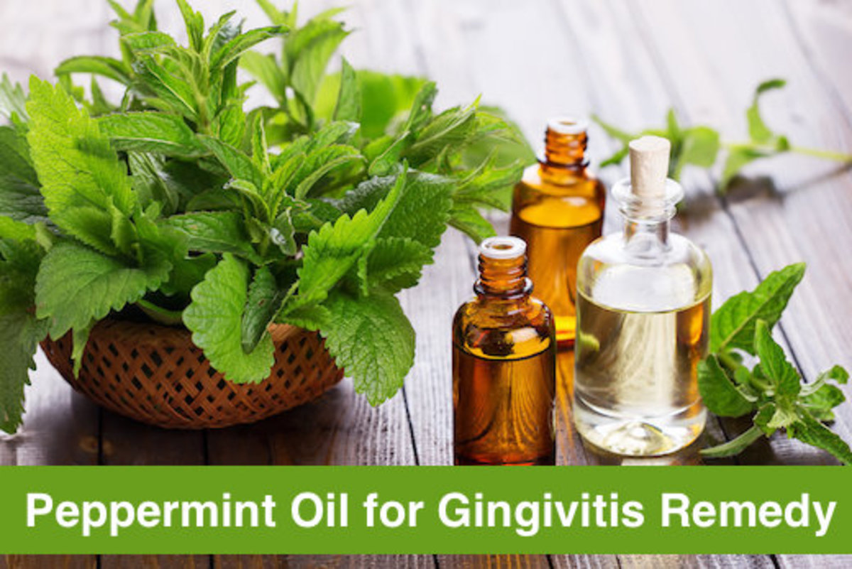 Peppermint has powerful antibacterial properties, making it useful for gingivitis cure.