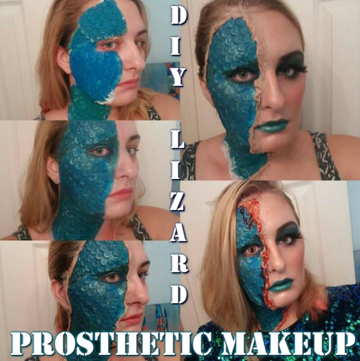 Makeup Diy How To Make Prosthetic Scales Mystique Lizard Style