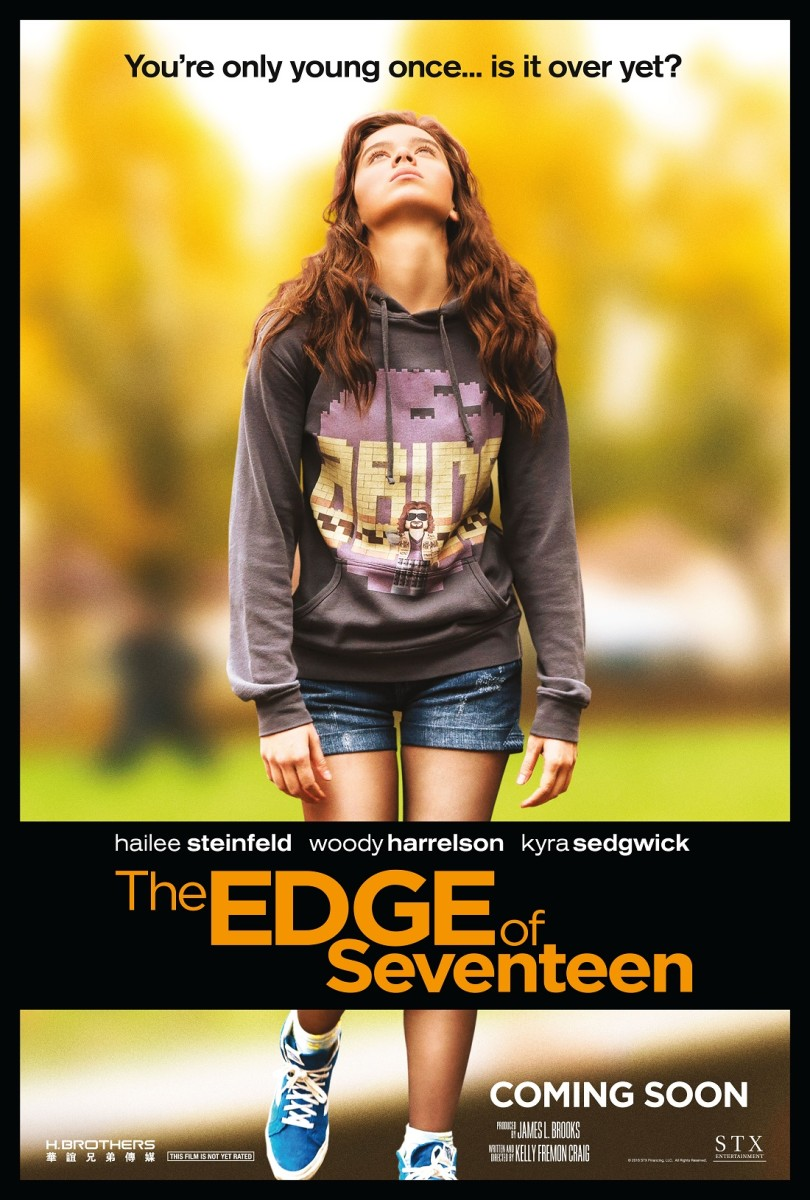"The official one-sheet theatrical poster for ""The Edge of Seventeen."""