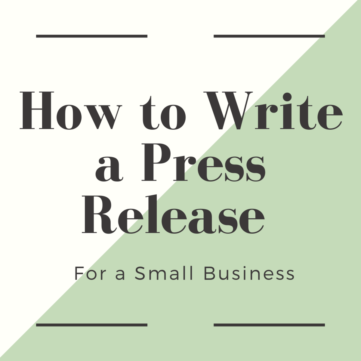 As a small business owner, it's important to know how to write a press release.